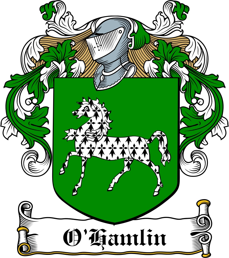 Thumbnail O'Hamlin Family Crest / Irish Coat of Arms Image Download