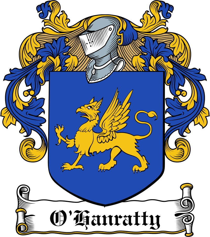 Thumbnail O'Hanratty Family Crest / Irish Coat of Arms Image Download