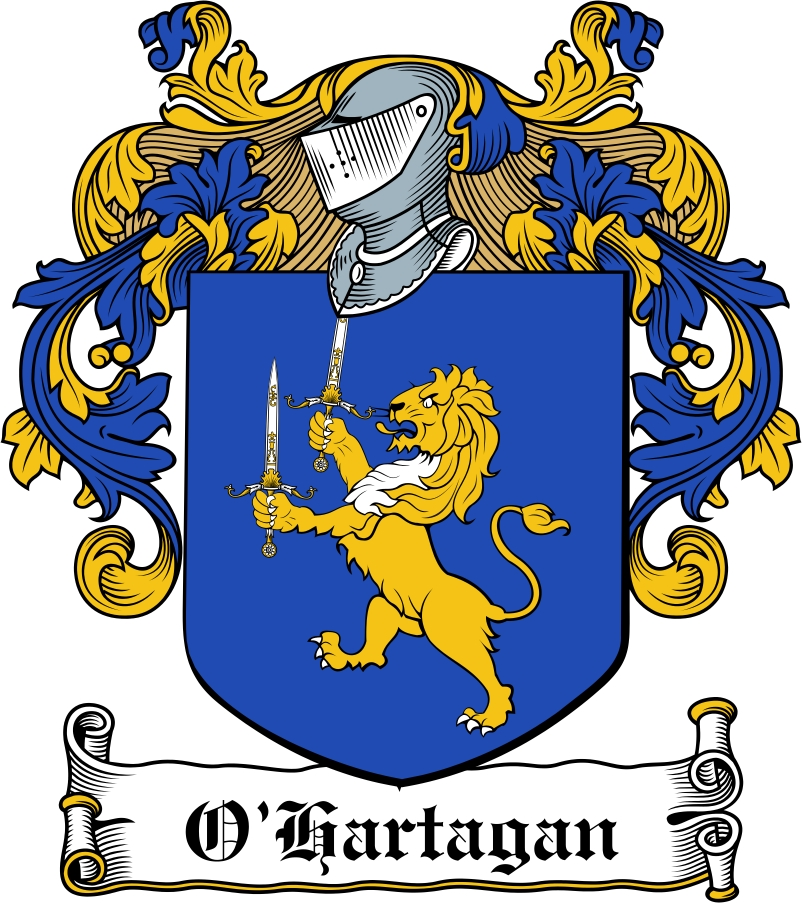 Thumbnail O'Hartagan Family Crest / Irish Coat of Arms Image Download