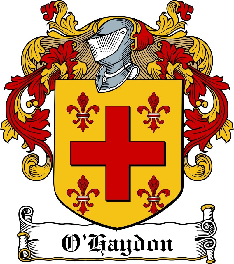 Thumbnail O'Haydon Family Crest / Irish Coat of Arms Image Download