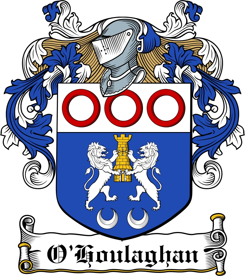 Thumbnail O'Houlaghan Family Crest / Irish Coat of Arms Image Download