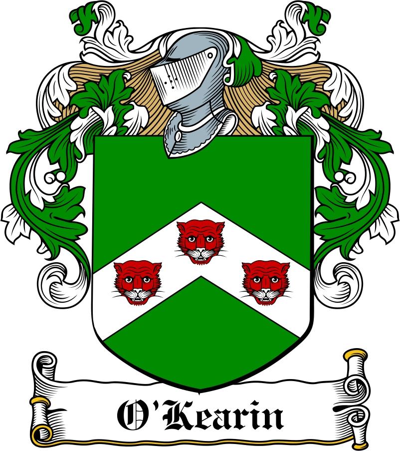 Thumbnail O'Kearin Family Crest / Irish Coat of Arms Image Download