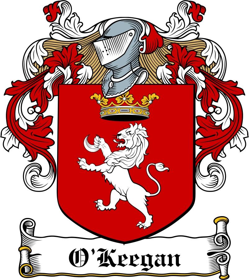 Thumbnail O'Keegan Family Crest / Irish Coat of Arms Image Download