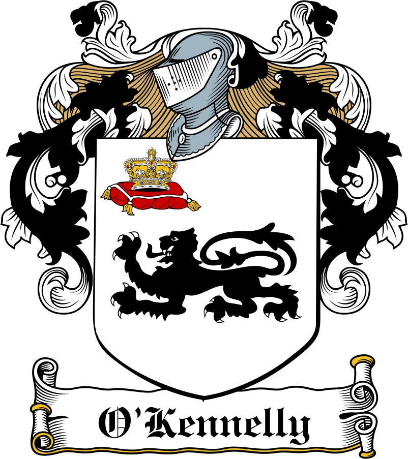 Thumbnail O'Kennelly Family Crest / Irish Coat of Arms Image Download