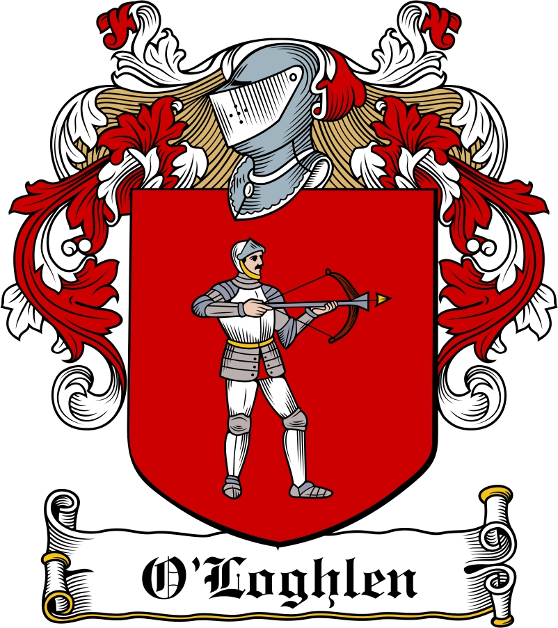 Thumbnail O'Loghlen Family Crest / Irish Coat of Arms Image Download