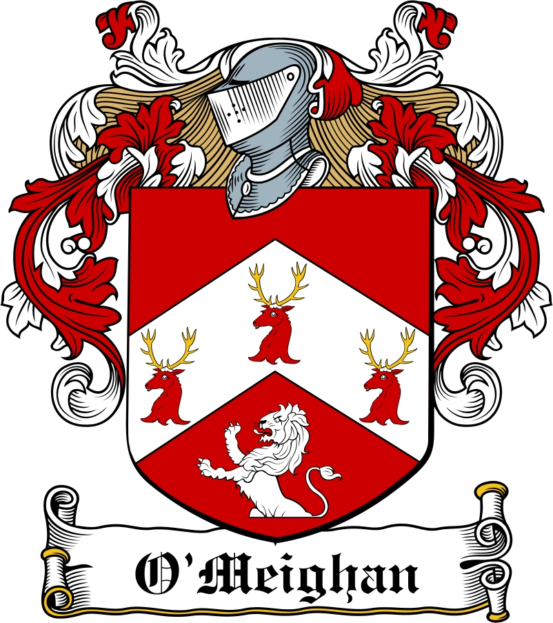 Thumbnail O'Meighan Family Crest / Irish Coat of Arms Image Download