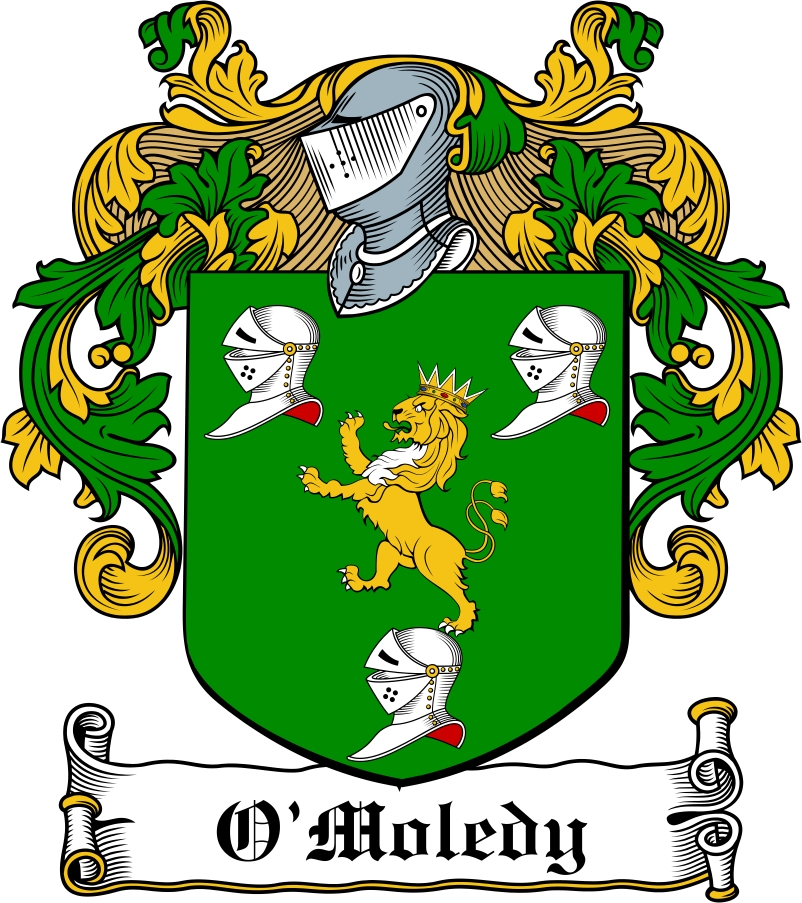Thumbnail O'Moledy Family Crest / Irish Coat of Arms Image Download