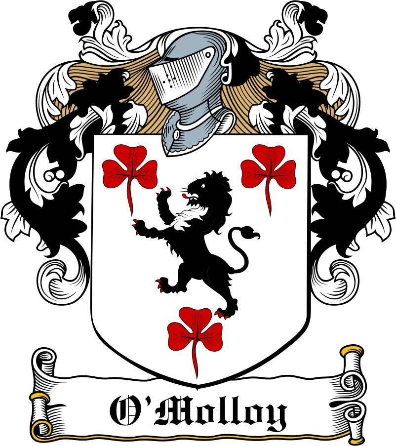 Thumbnail O'Molloy Family Crest / Irish Coat of Arms Image Download
