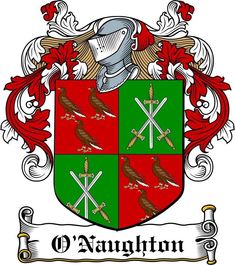 Thumbnail O'Naughton Family Crest / Irish Coat of Arms Image Download