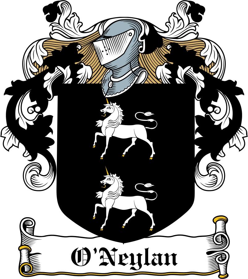 Thumbnail O'Neylan Family Crest / Irish Coat of Arms Image Download