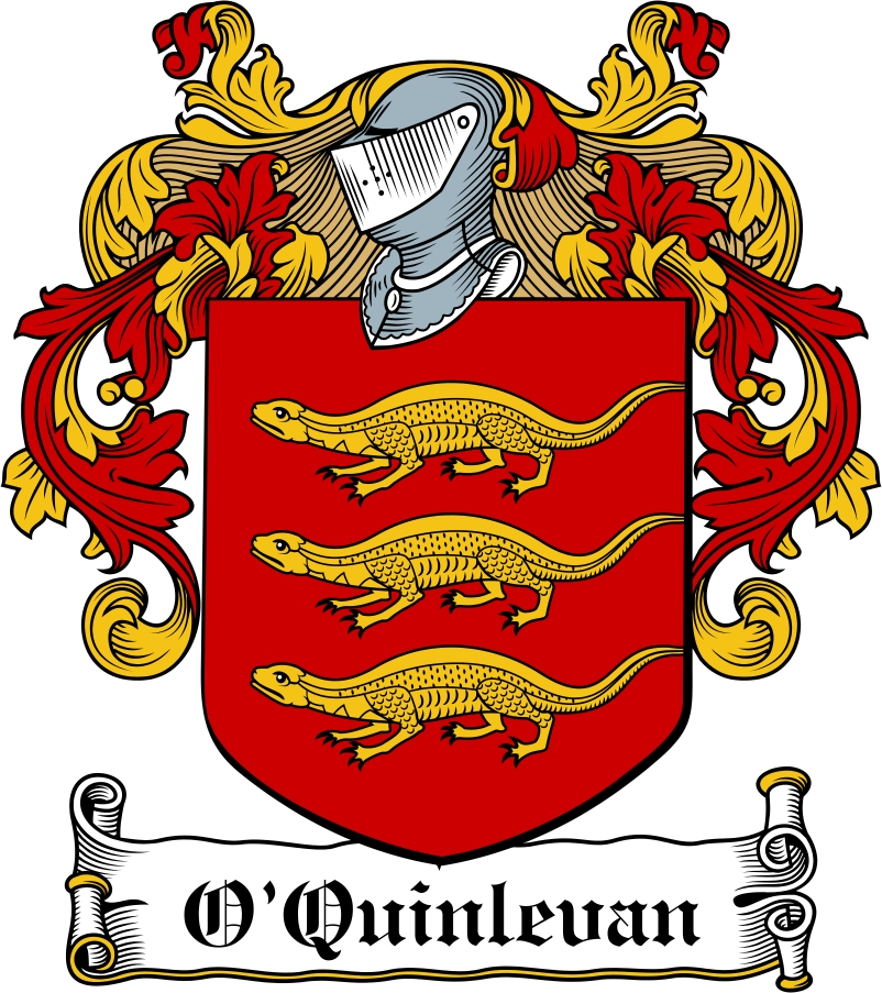 Thumbnail O'Quinlevan Family Crest / Irish Coat of Arms Image Download