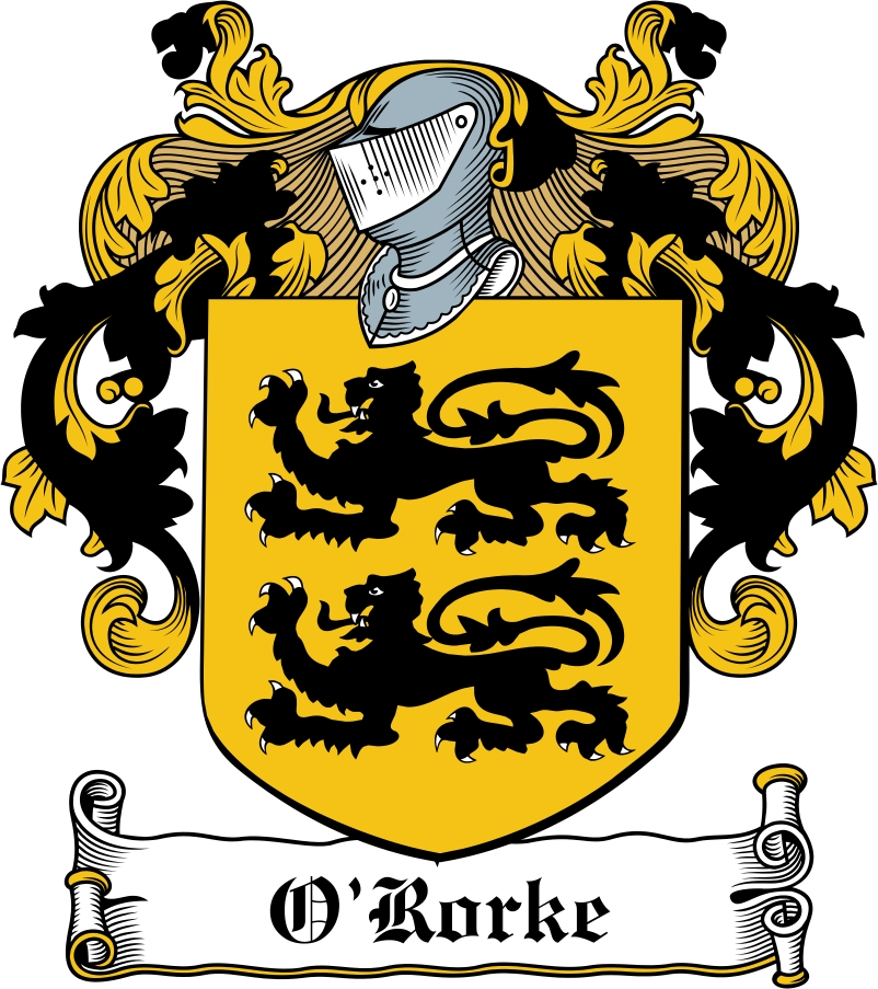 Thumbnail O'Rorke Family Crest / Irish Coat of Arms Image Download