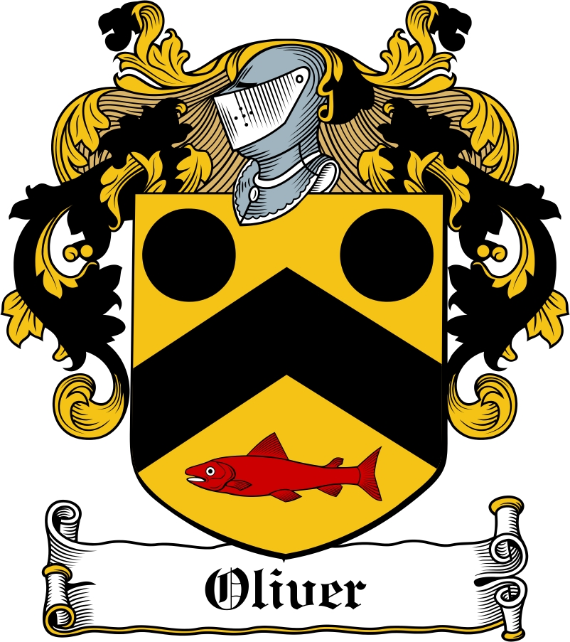 Thumbnail Oliver Family Crest / Irish Coat of Arms Image Download