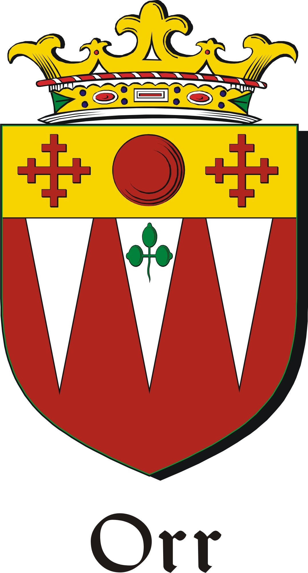 Thumbnail Orr Family Crest / Irish Coat of Arms Image Download