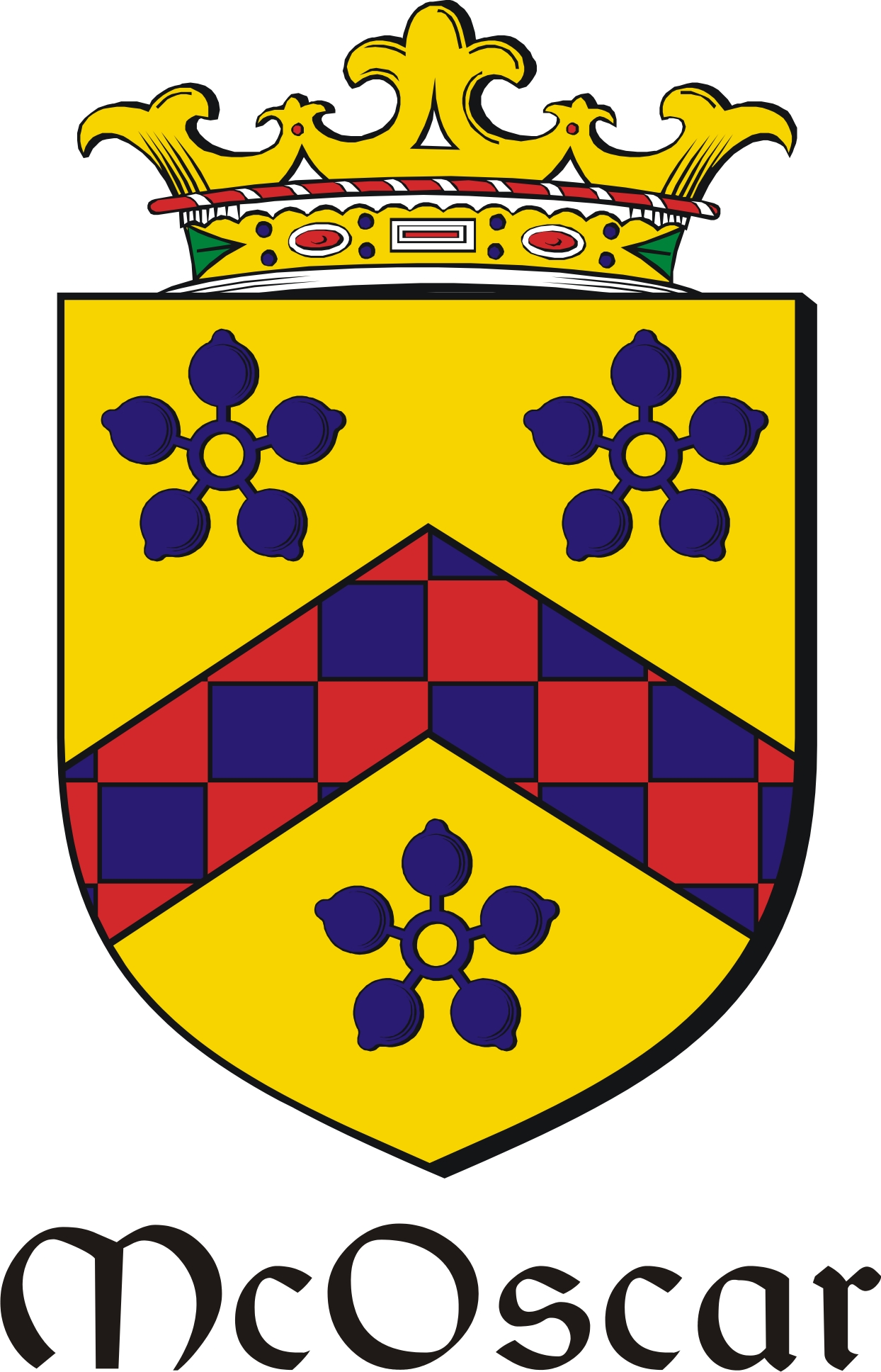 Thumbnail Oscar-Mc Family Crest / Irish Coat of Arms Image Download