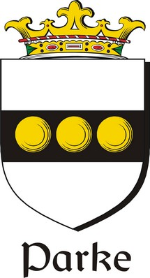 Thumbnail Parke Family Crest / Irish Coat of Arms Image Download