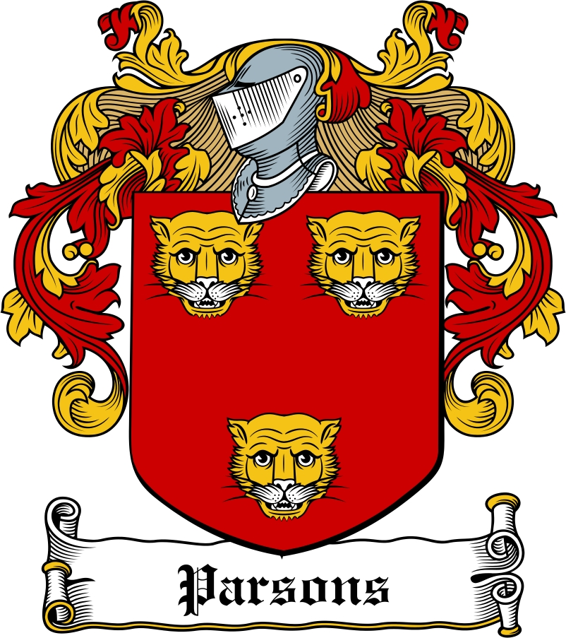 Thumbnail Parsons Family Crest / Irish Coat of Arms Image Download