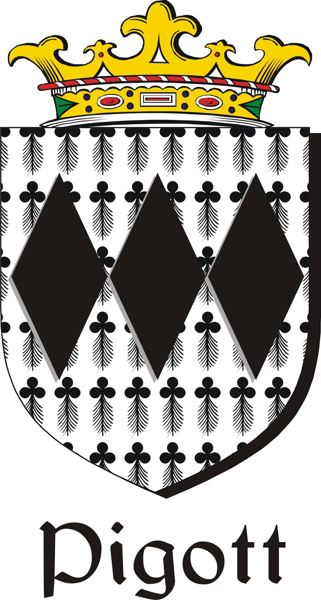 Thumbnail Pigott Family Crest / Irish Coat of Arms Image Download