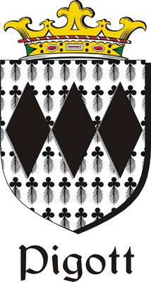 Thumbnail Pigott Family Crest / Irish Coat of Arms Image Download