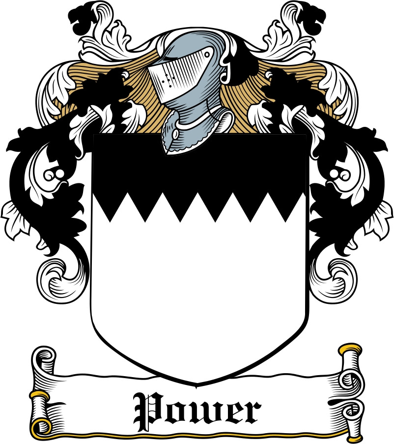 Thumbnail Power Family Crest / Irish Coat of Arms Image Download