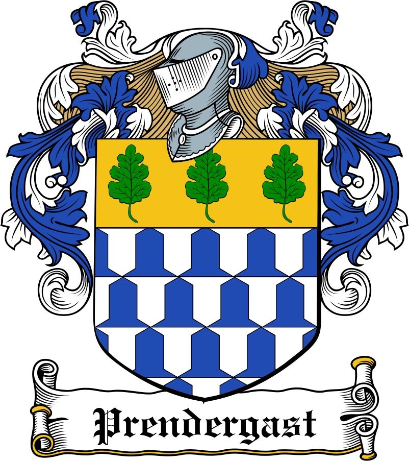 Thumbnail Prendergast Family Crest / Irish Coat of Arms Image Download