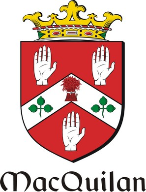 Thumbnail Quillan-Mac Family Crest / Irish Coat of Arms Image Download
