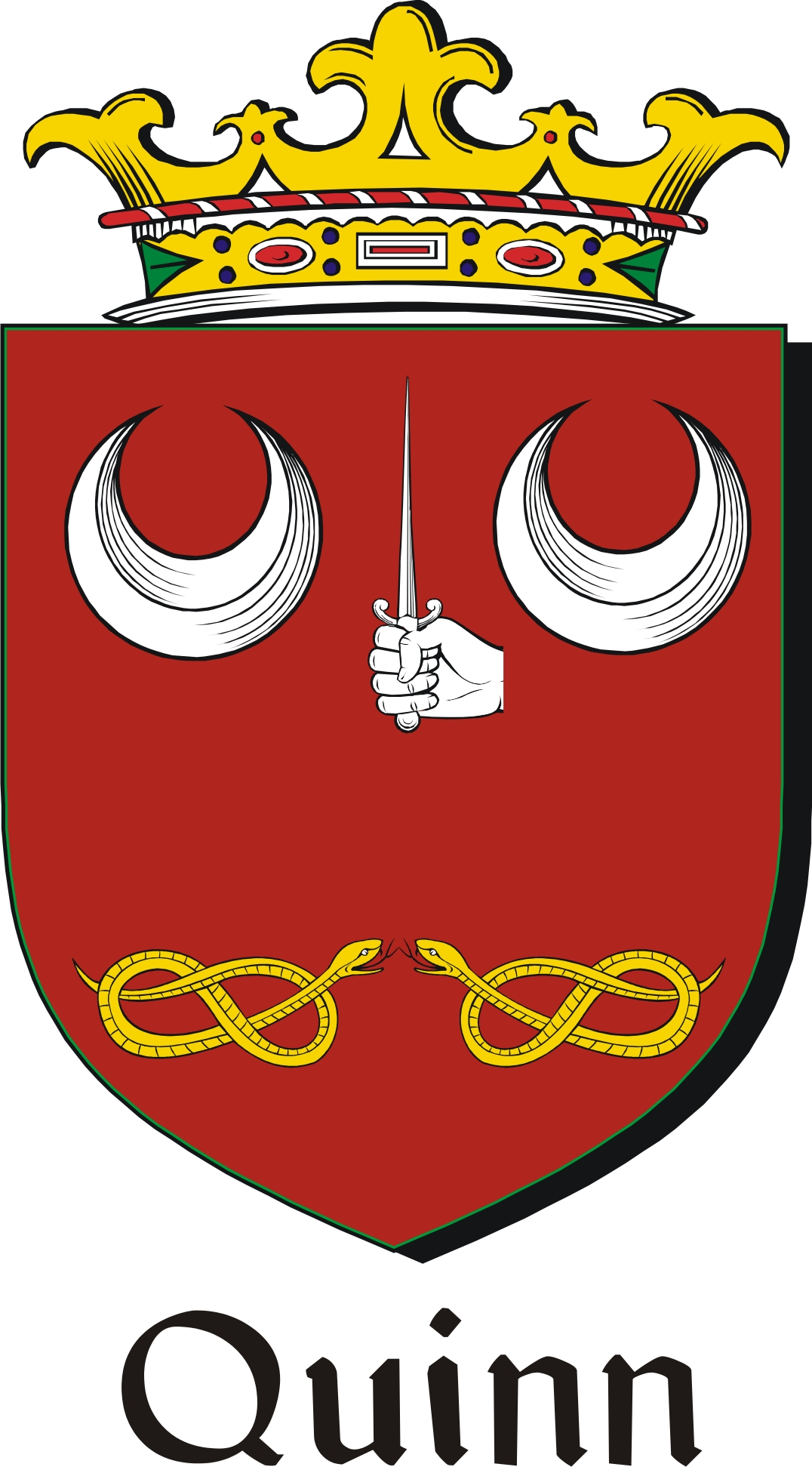 Thumbnail Quinn-2 Family Crest / Irish Coat of Arms Image Download