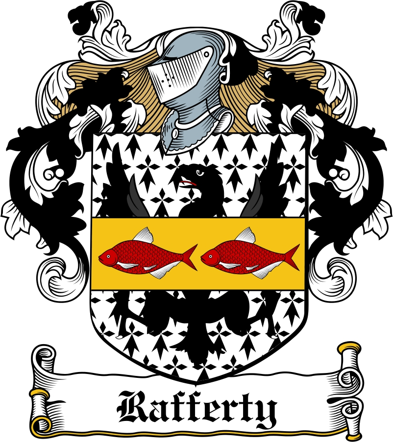 Thumbnail Rafferty Family Crest / Irish Coat of Arms Image Download