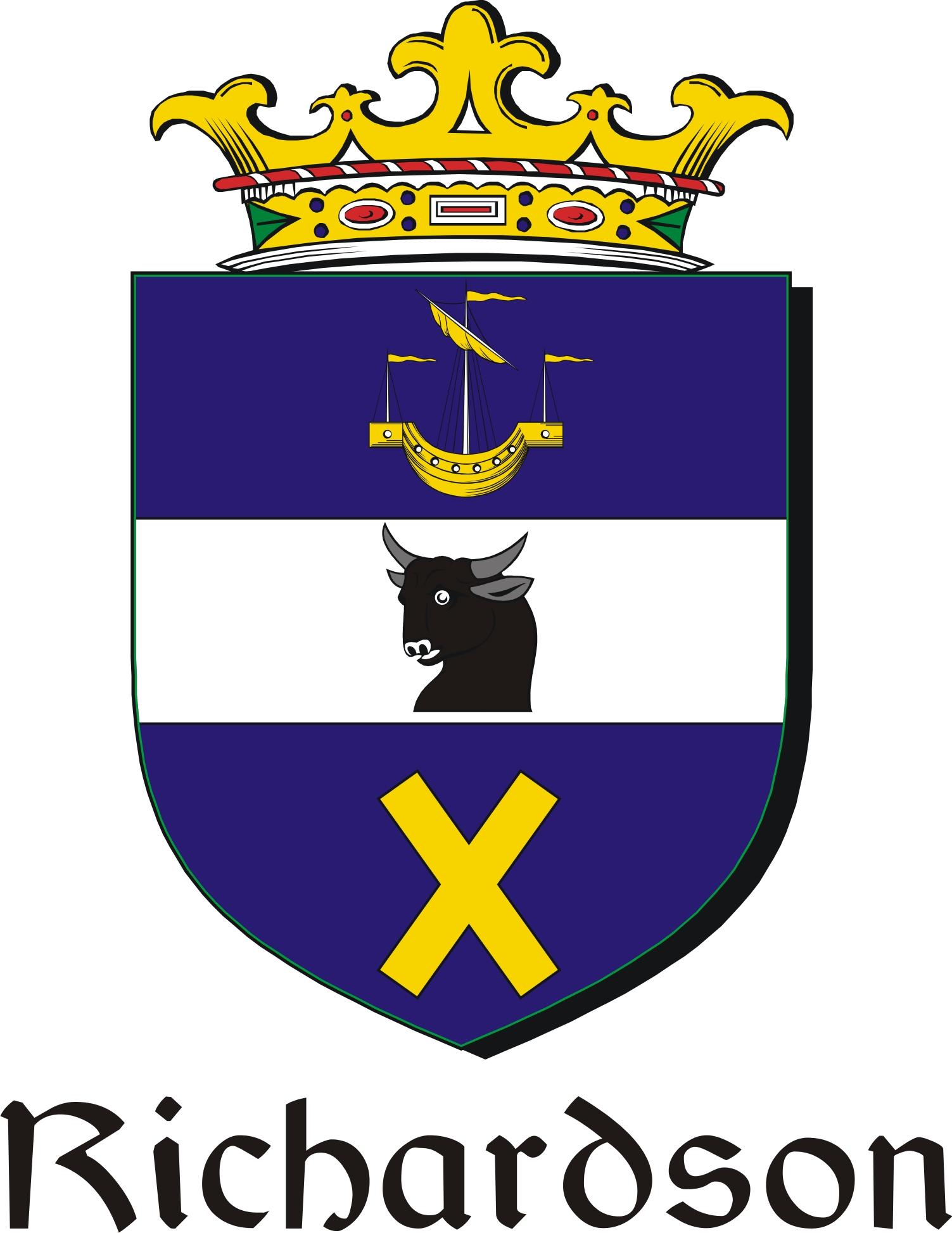 Thumbnail Richardson Family Crest / Irish Coat of Arms Image Download