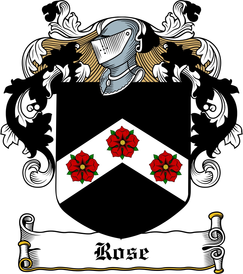 Thumbnail Rose Family Crest / Irish Coat of Arms Image Download