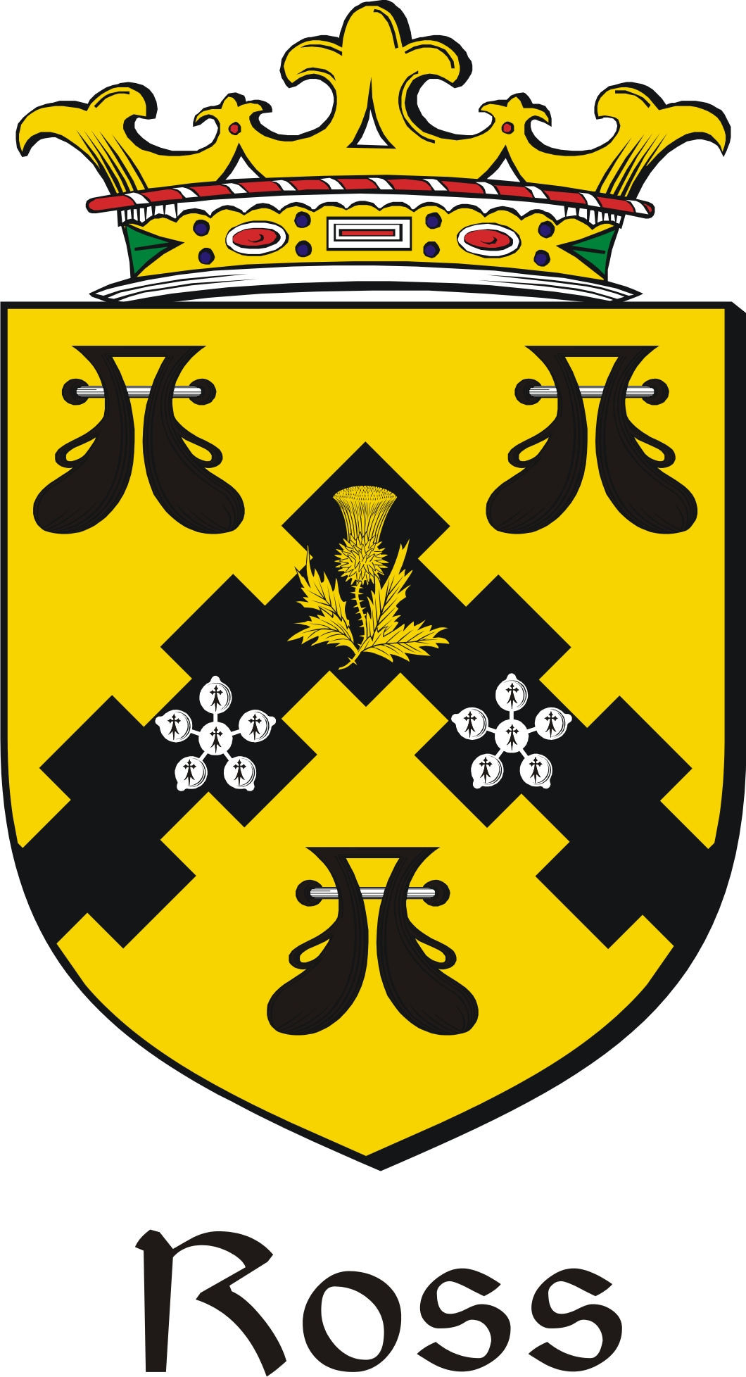 Thumbnail Ross Family Crest / Irish Coat of Arms Image Download