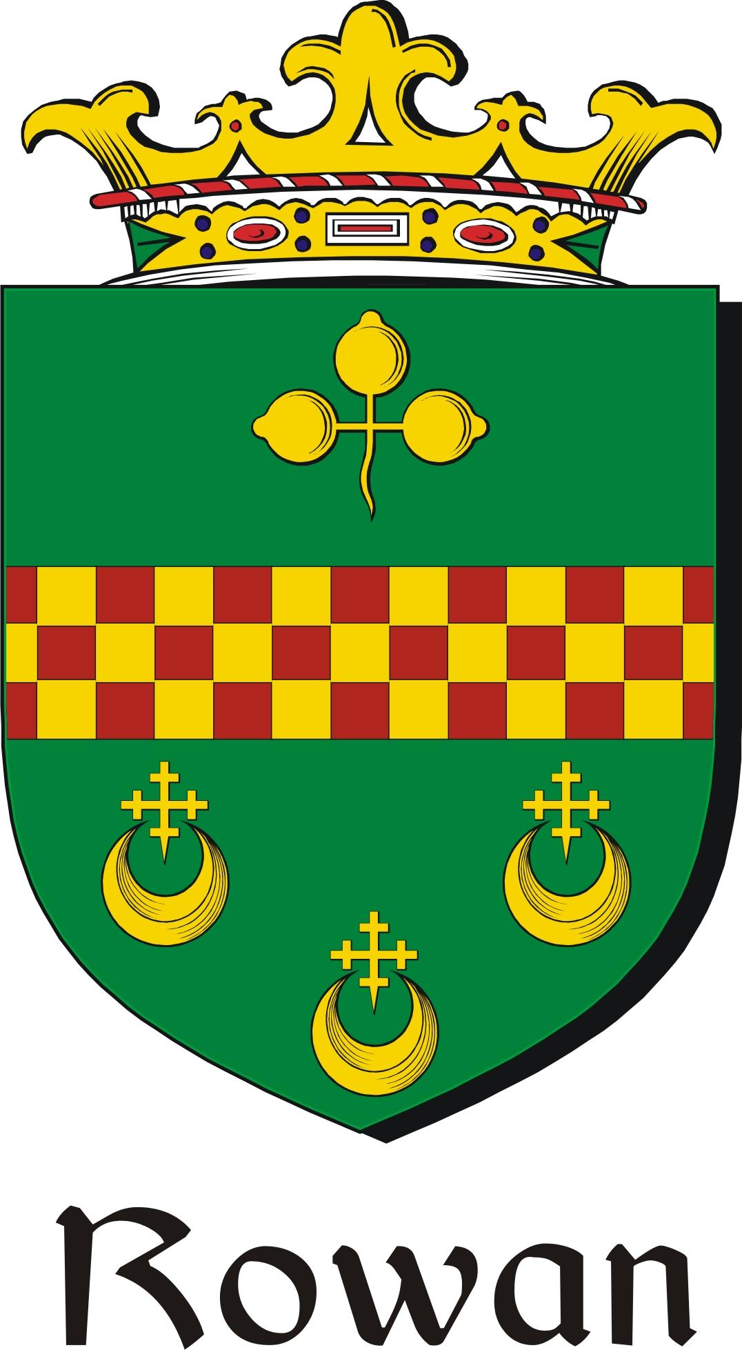 Thumbnail Rowan Family Crest / Irish Coat of Arms Image Download