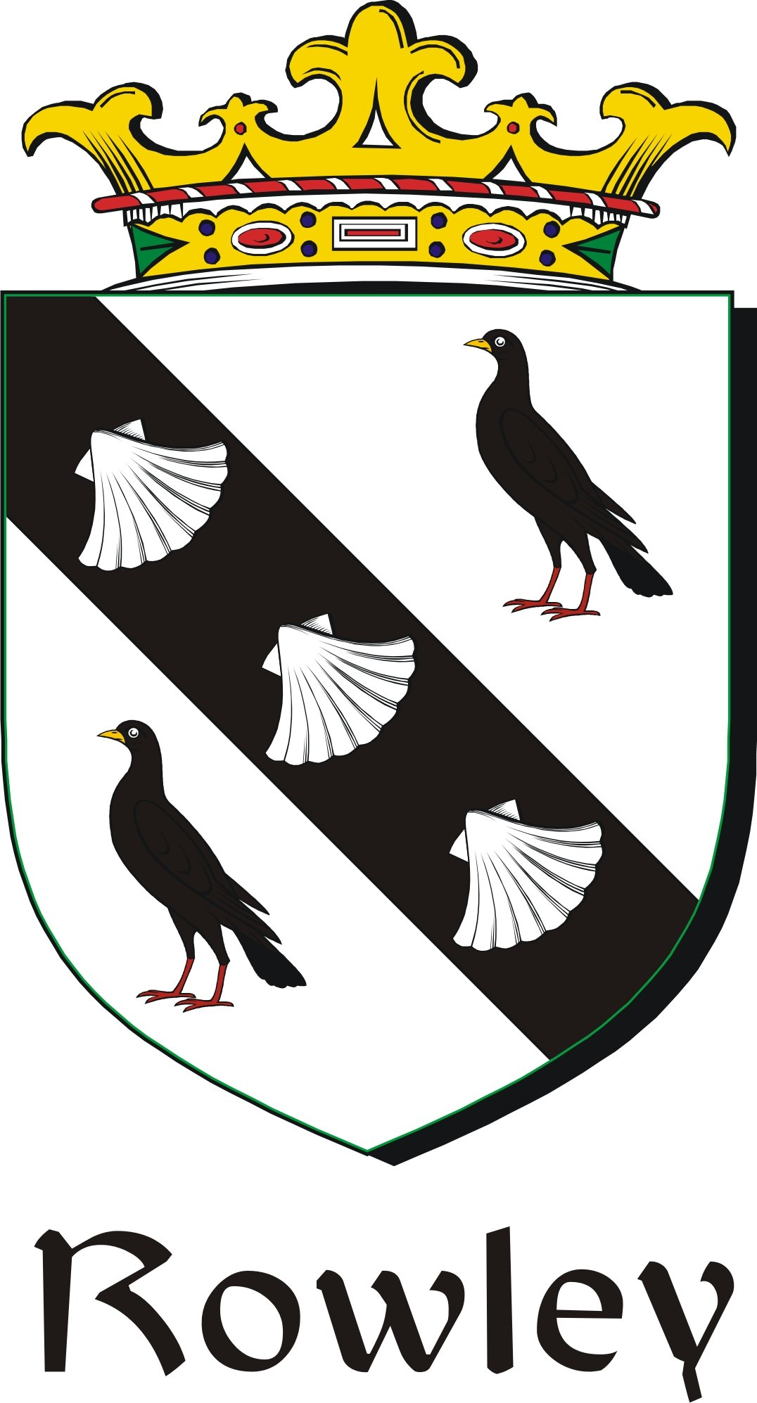 Thumbnail Rowley Family Crest / Irish Coat of Arms Image Download