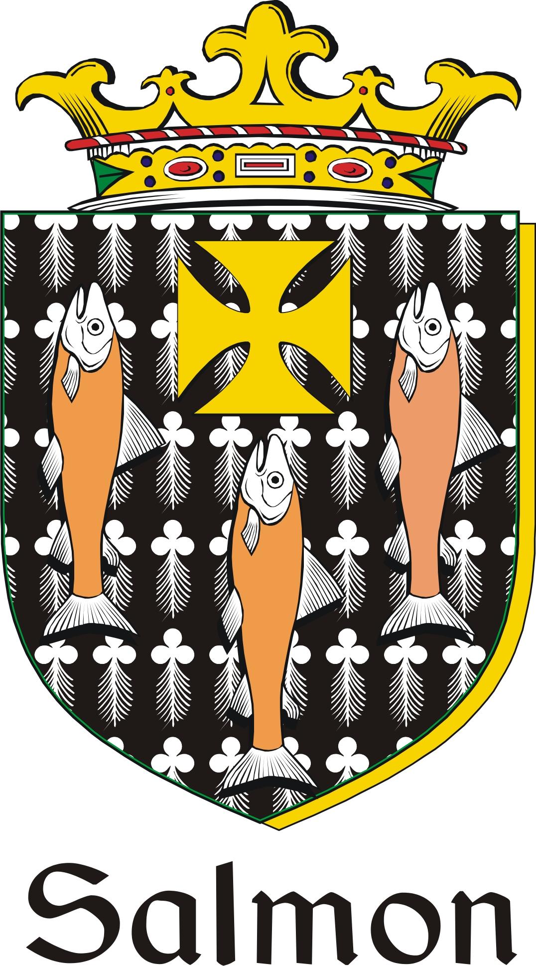 Thumbnail Salmon Family Crest / Irish Coat of Arms Image Download