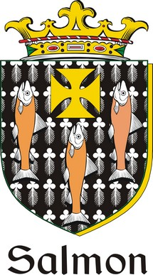 Thumbnail Salmon Family Crest / Irish Coat of Arms Image Download