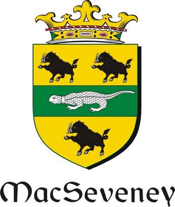Thumbnail Seveney-Mac Family Crest / Irish Coat of Arms Image Download