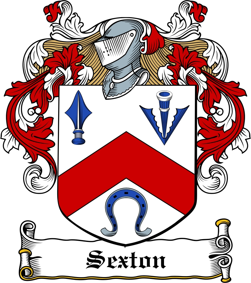 Thumbnail Sexton Family Crest / Irish Coat of Arms Image Download