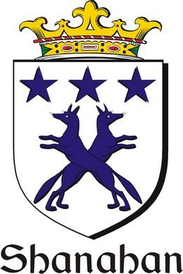 Thumbnail Shanahan Family Crest / Irish Coat of Arms Image Download