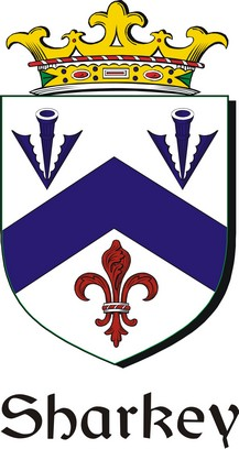Thumbnail Sharkey Family Crest / Irish Coat of Arms Image Download