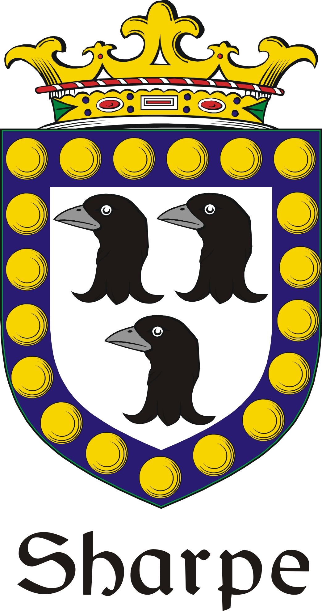 Thumbnail Sharpe Family Crest / Irish Coat of Arms Image Download