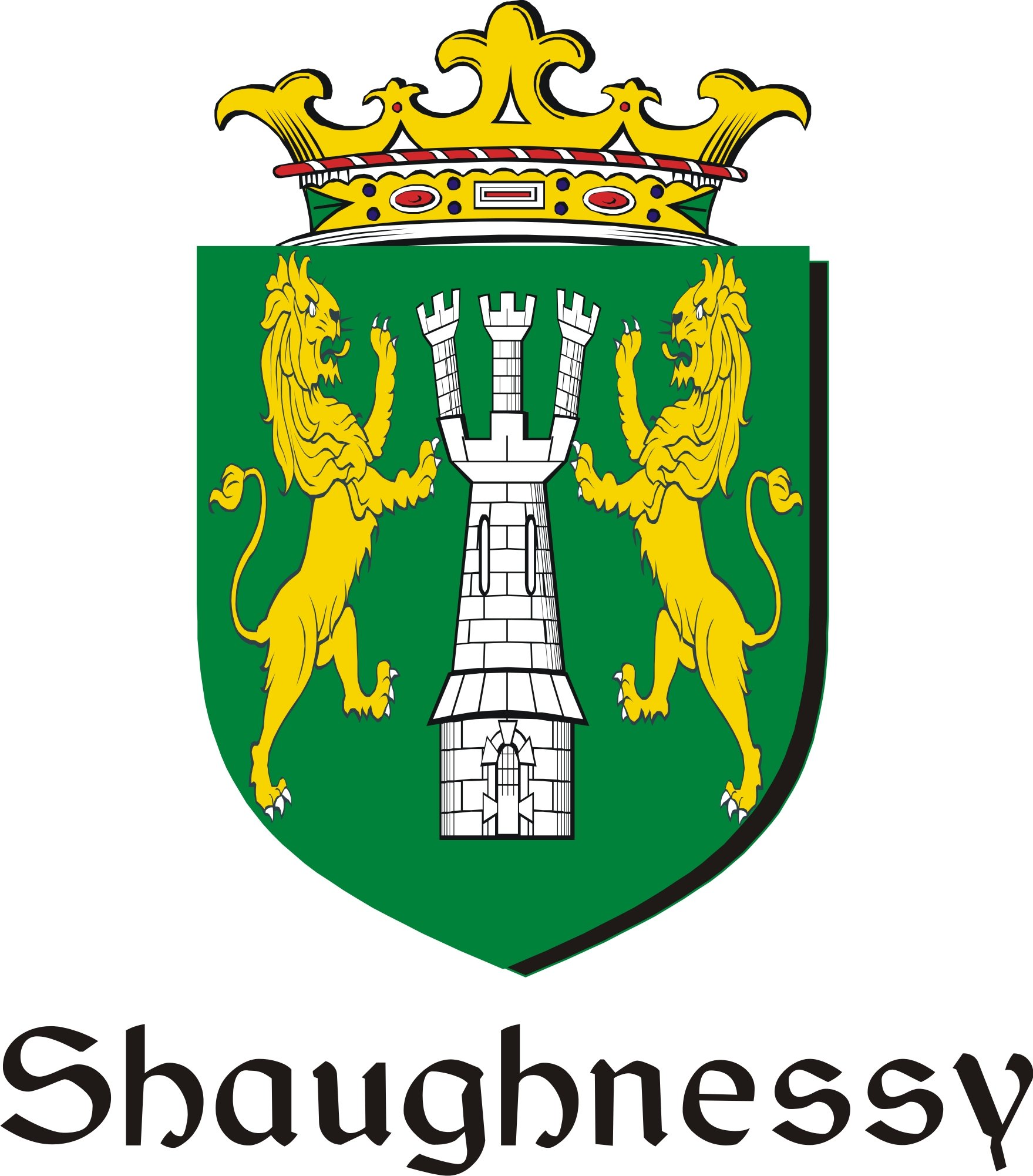 Thumbnail Shaughnessy-O Family Crest / Irish Coat of Arms Image Download
