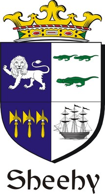Thumbnail Sheehy Family Crest / Irish Coat of Arms Image Download