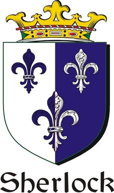 Thumbnail Sherlock Family Crest / Irish Coat of Arms Image Download