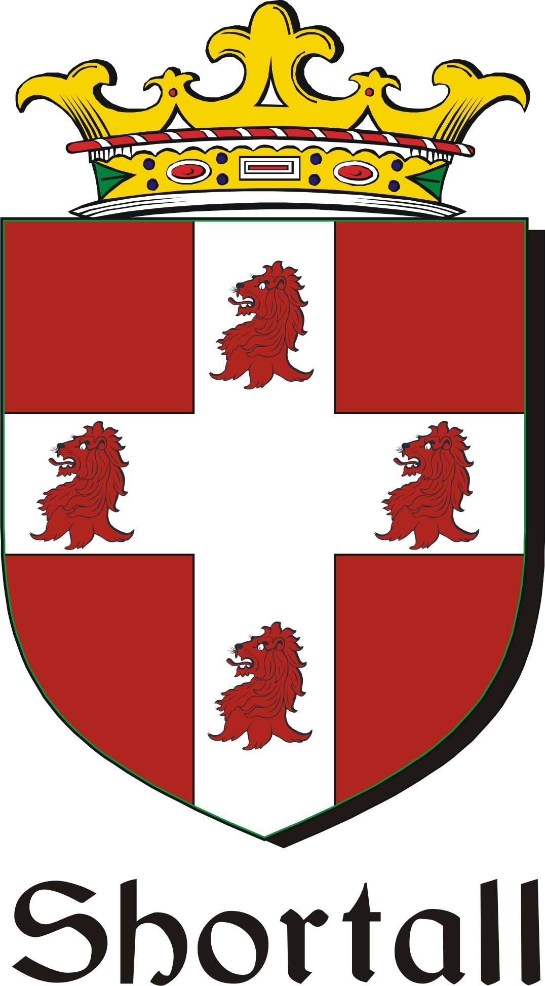 Thumbnail Shortall Family Crest / Irish Coat of Arms Image Download