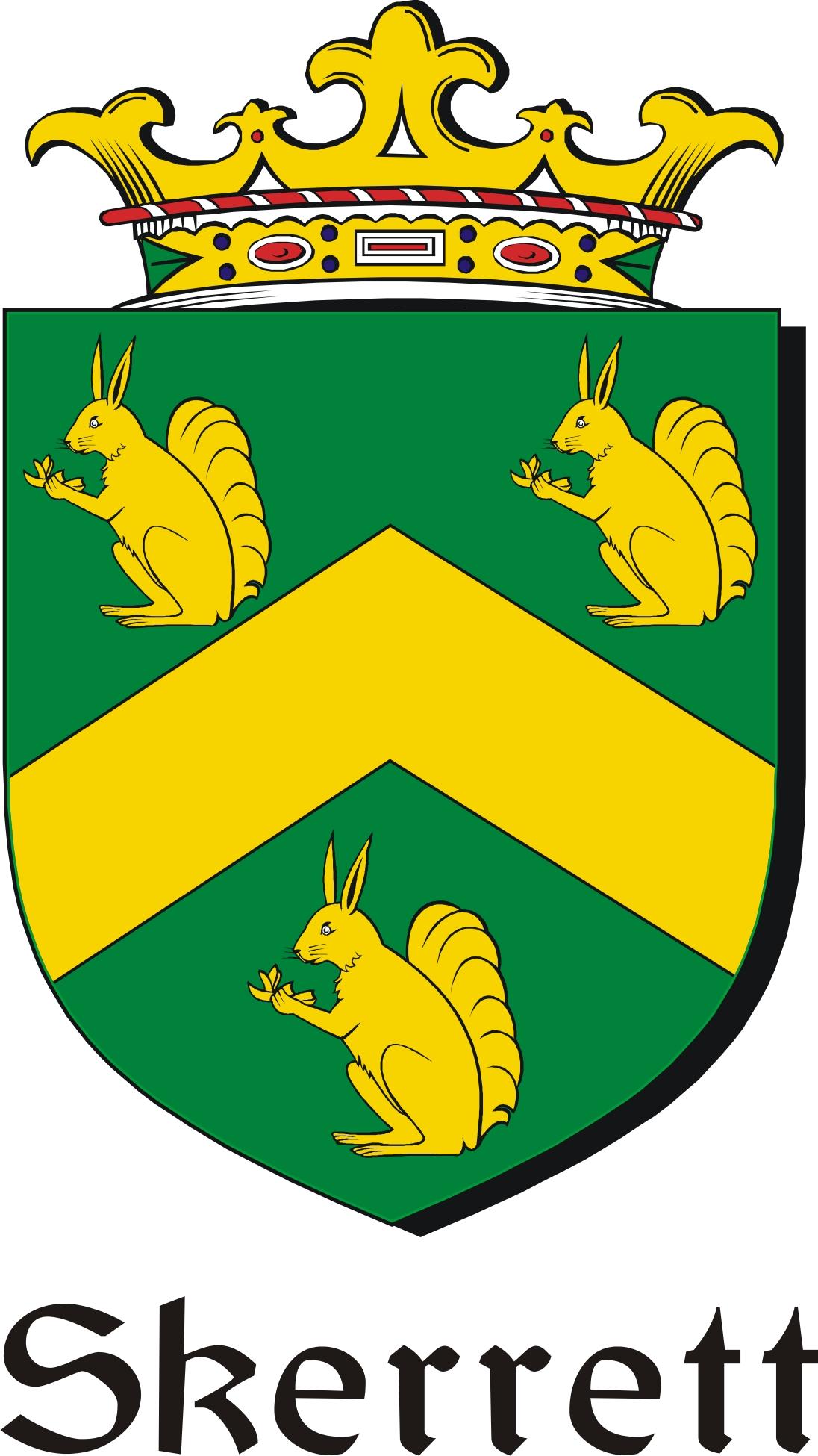 Thumbnail Skerrett Family Crest / Irish Coat of Arms Image Download