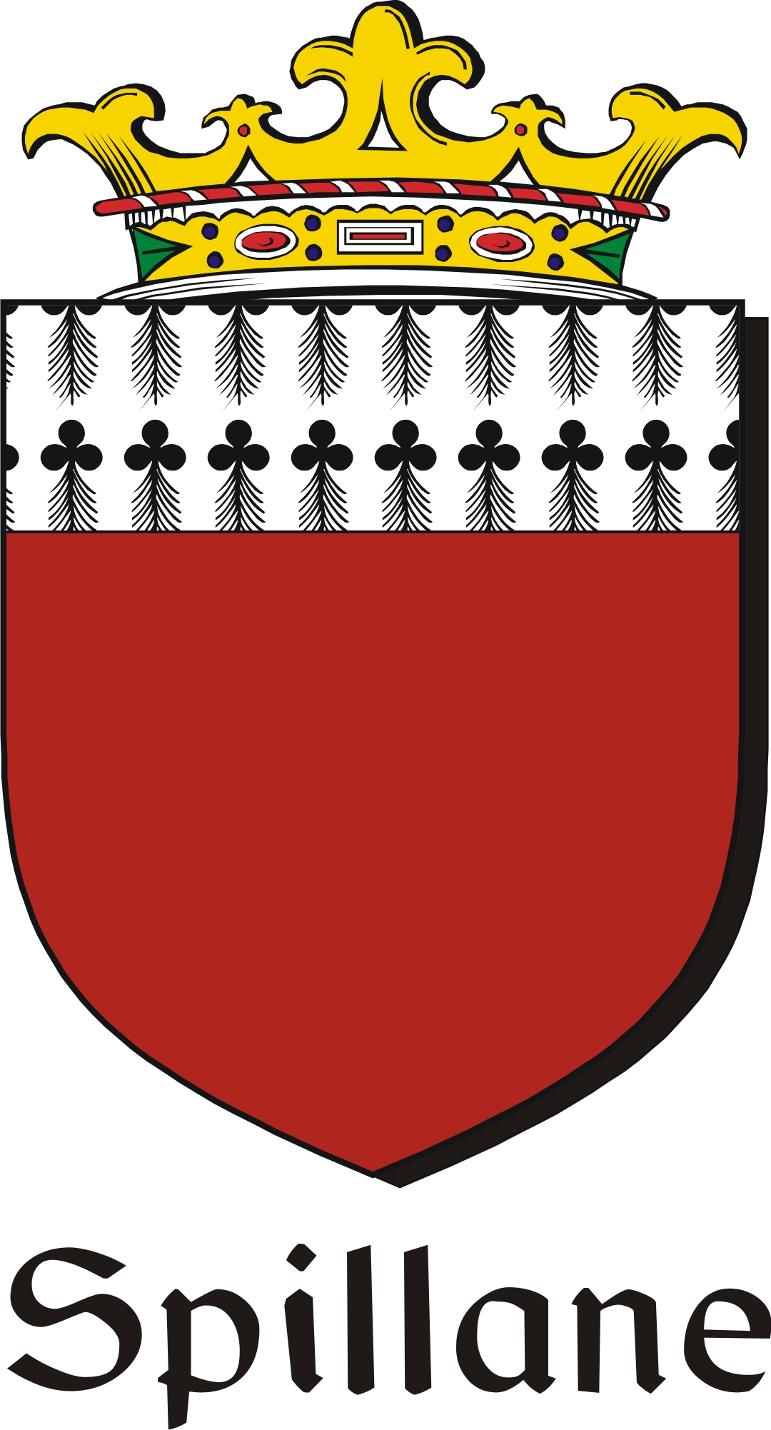 Thumbnail Spillane Family Crest / Irish Coat of Arms Image Download
