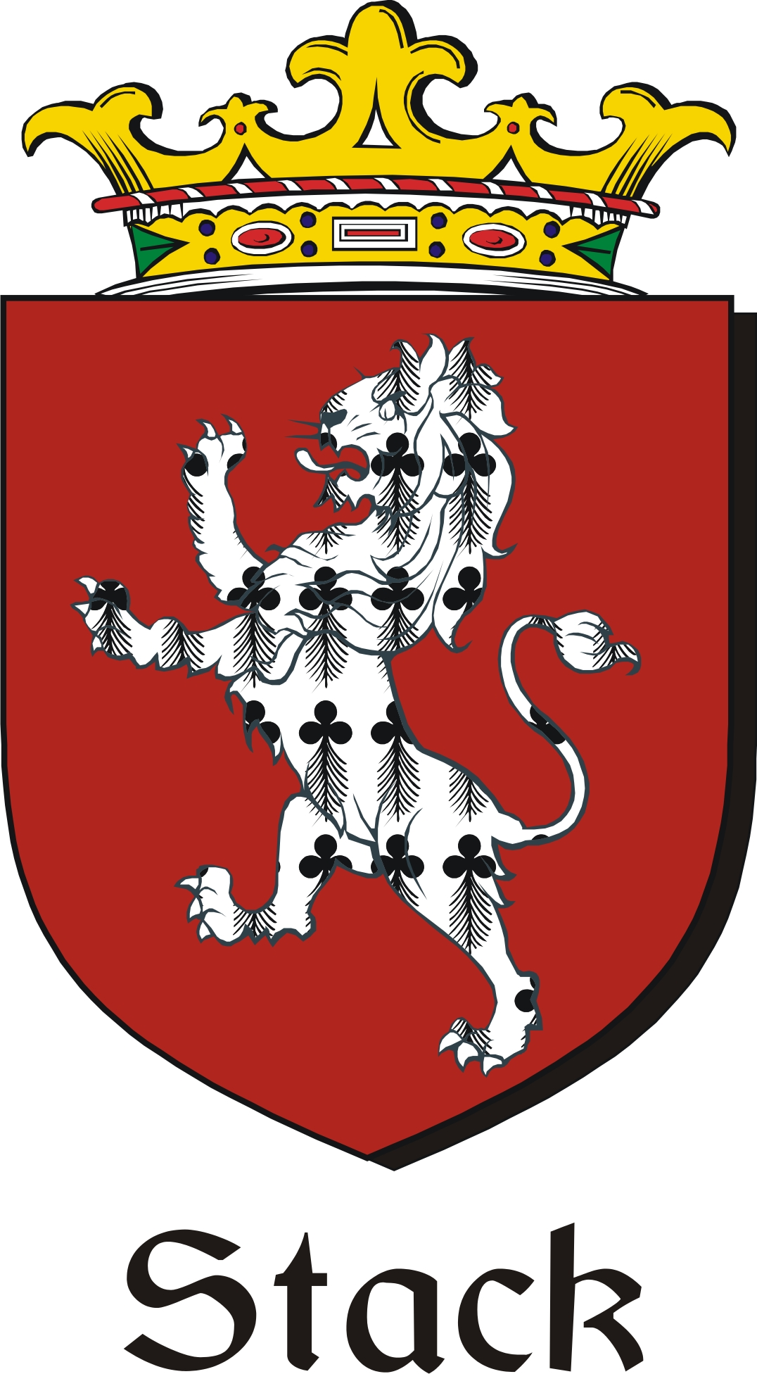 Thumbnail Stack Family Crest / Irish Coat of Arms Image Download