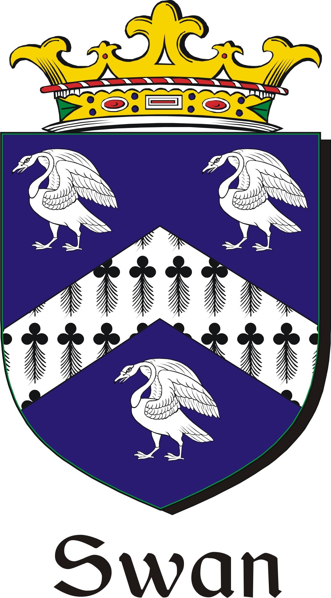 Thumbnail Swan Family Crest / Irish Coat of Arms Image Download