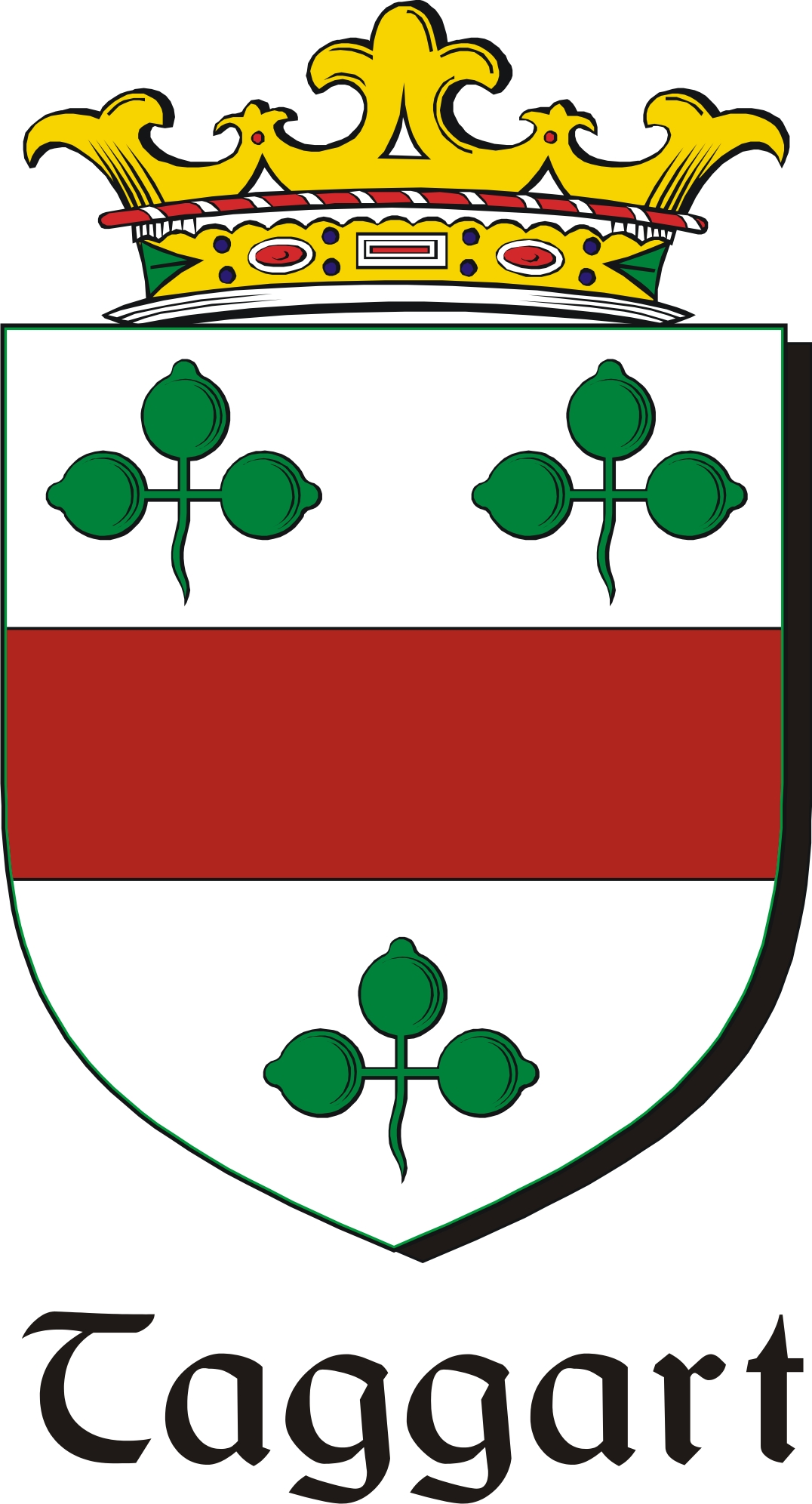 Thumbnail Taggart Family Crest / Irish Coat of Arms Image Download