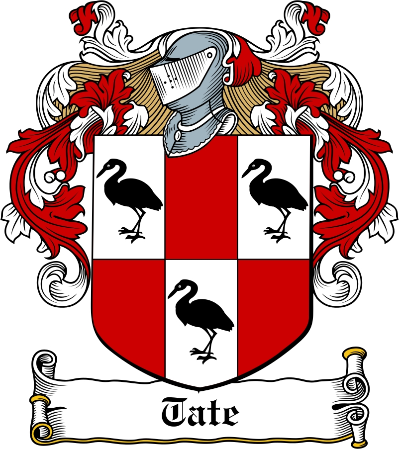 Thumbnail Tate Family Crest / Irish Coat of Arms Image Download